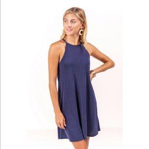Francesca's High Neck Flare Dress